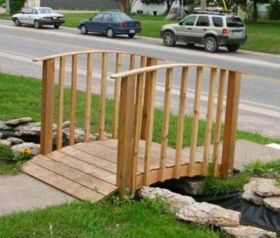 """Mini Cedar Arched Bridge PLANS  (6 feet)"","