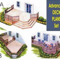"""""""Advanced Deck PLANS  Set of 3"""","""