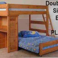 """""""Double & Single Loft Bunk PLANS"""","""