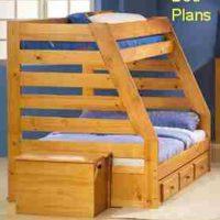 Captain's Bunk Bed PLANS – Simple Double/Twin Size