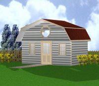 """""""Garden Mansard Roof Shed PLANS"""""""