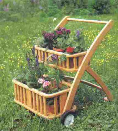 """Garden Plans Cart Art Deco Design PLANS"","
