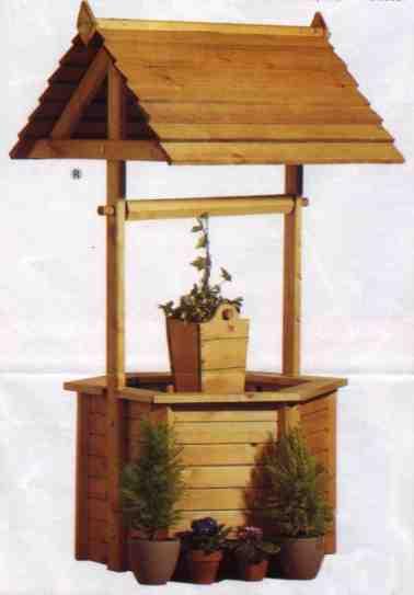 """Giant Wishing Well Planter PLANS  -5 feet"","