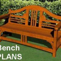 Garden Bench PLANS – Deluxe Siera Design